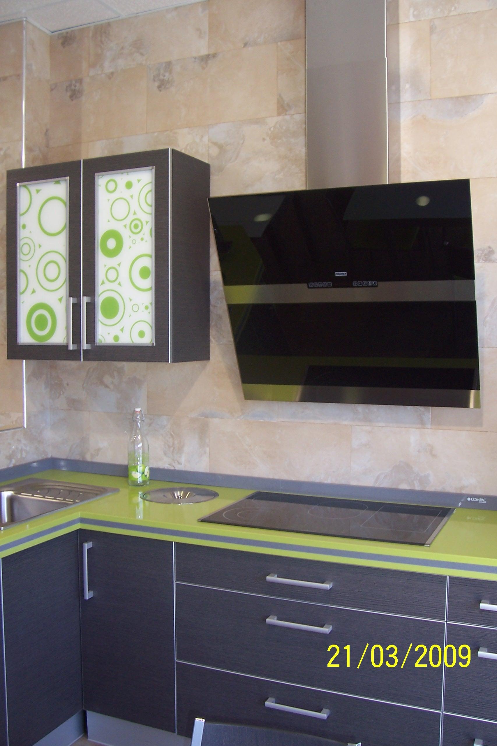 Muebles de cocina en pe aranda electrodom sticos armarios - Cocina con campana decorativa ...